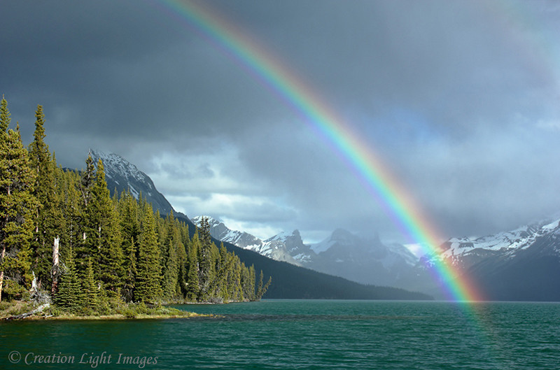 Rainbow Over Maligne Lake
