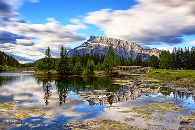 Mount Rundle reflected in Cascade Ponds