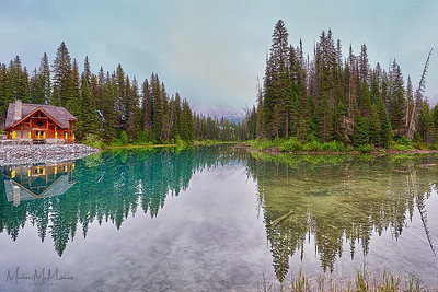 Emerald reflection at Emerald Lake, Yoho National Park, British Columbia