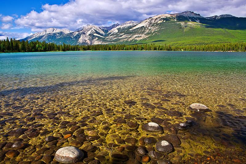 Canadian Rockies, Jasper National Park, Lake Edith, Landscape,加拿大 贾斯珀国家公园 风景