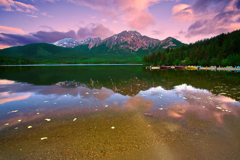 Canadian Rockies, Jasper National Park, Patricia Lake, Sunrise, Landscape, 加拿大 贾斯珀国家公园 风景