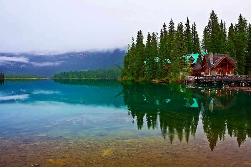 Canadian Rockies, Yoho National Park, Emerald Lake, Landscape, 加拿大 风景