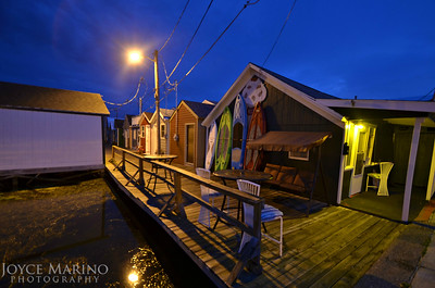 Canandaigua Pier Boat Houses just before sunrise.