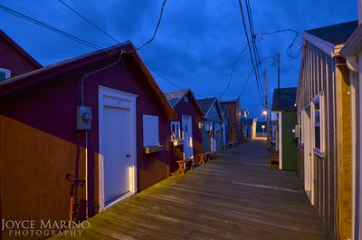 Boat houses along Canandaigua's City Pier