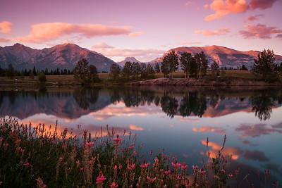 Sunset at Quarry Lake, Canmore