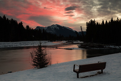 Sunrise over the Bow River, Canmore Alberta