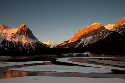 Sunrise on Ha Ling Peak, Canmore, Alberta