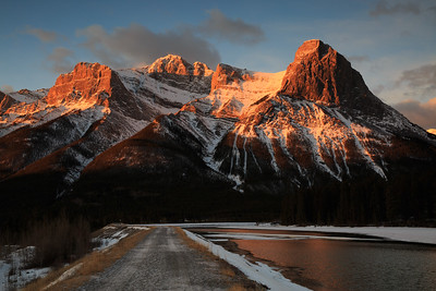 Alpenglow on Mt. Lawrence Grassi