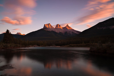 Three Sisters at Sunset, Canmore Alberta