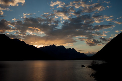 Sunset over Spray Lakes, Kananaskis