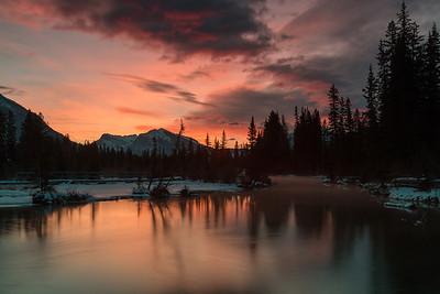 Sunrise at Policeman's Creek, Canmore Alberta