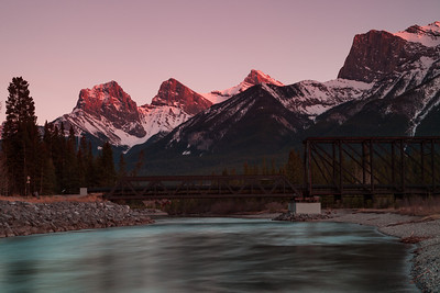 Sunset in Canmore, Alberta