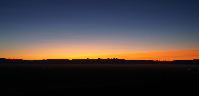 Southern Alps ash sunset