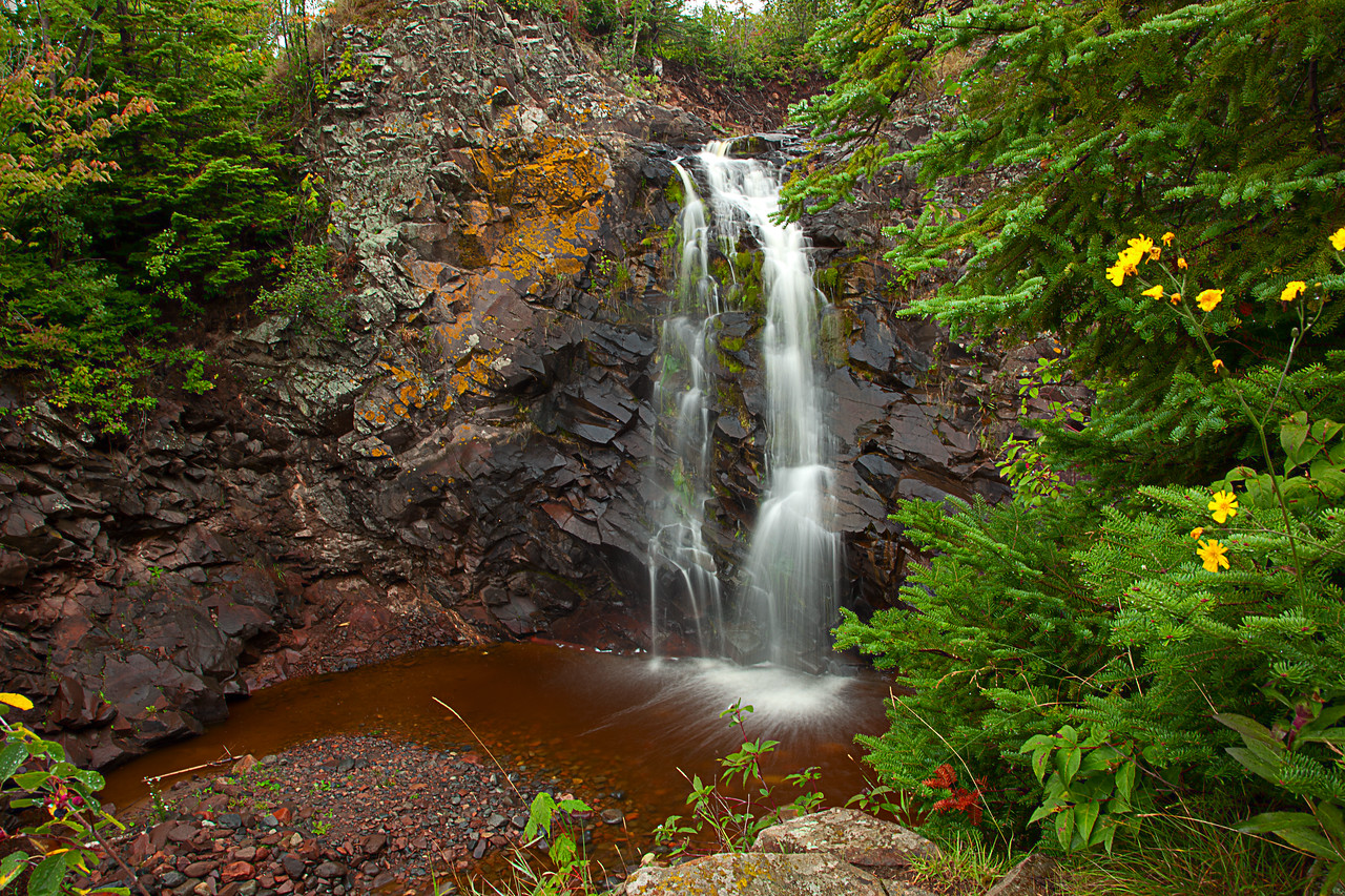 Rosebush falls - a very short unmarked hike from the road.