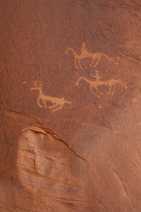Pictographs, hunters and game
