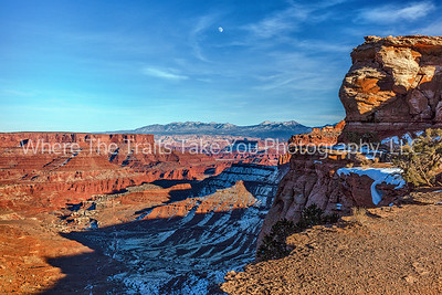 11.  Moonrise Over Shafer Canyon