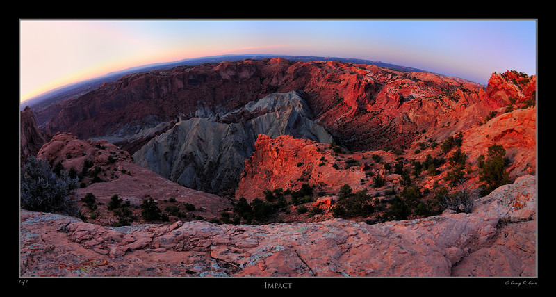 """The Upheaval Dome in the Canyonlands National Park.  The site of a major meteor strike 60 million years ago, resulting in this crater.<br /> <br /> See the latest conclusion:  <a href=""""http://dsc.discovery.com/news/2008/03/11/upheaval-dome-utah.html"""">http://dsc.discovery.com/news/2008/03/11/upheaval-dome-utah.html</a>"""