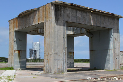 Launch Complex 34, Apollo Saturn V launch pad with Delta 4 in the background.  This was the launch facility for all of the Apollo missions to the moon. Get notifications via: