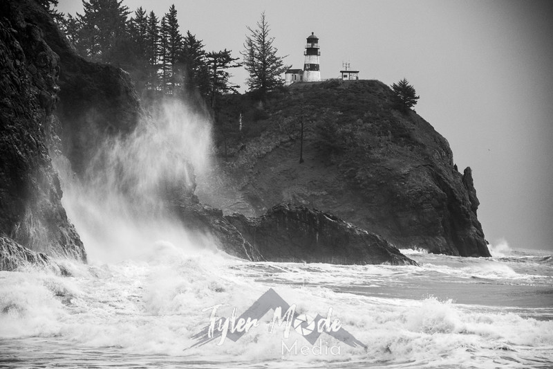 3  Cape Disappointment Waves BW