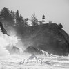 43  Cape Disappointment Waves BW