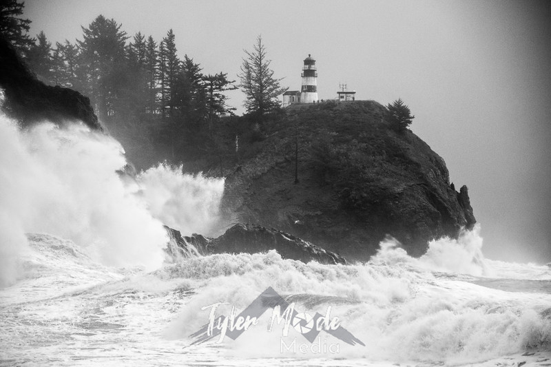 29  Cape Disappointment Waves BW