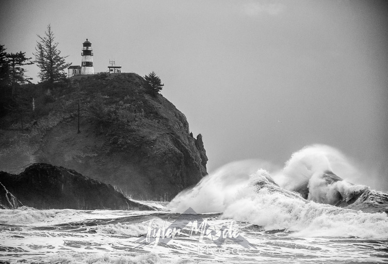 36  Cape Disappointment Waves BW