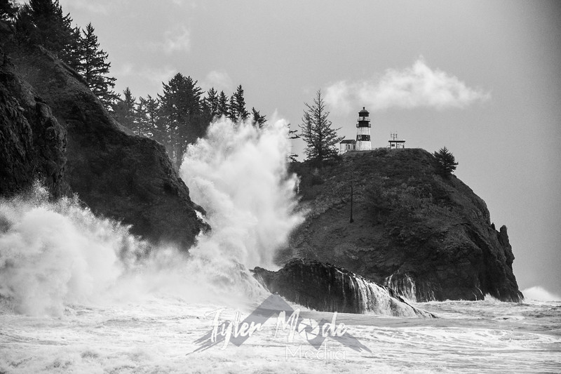 52  Cape Disappointment Waves BW