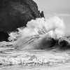 97  Cape Disappointment Waves BW