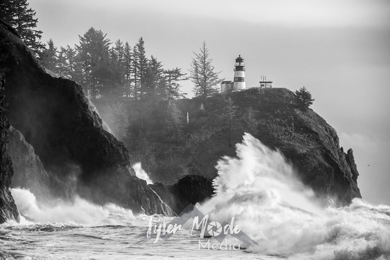 80  Cape Disappointment Waves BW