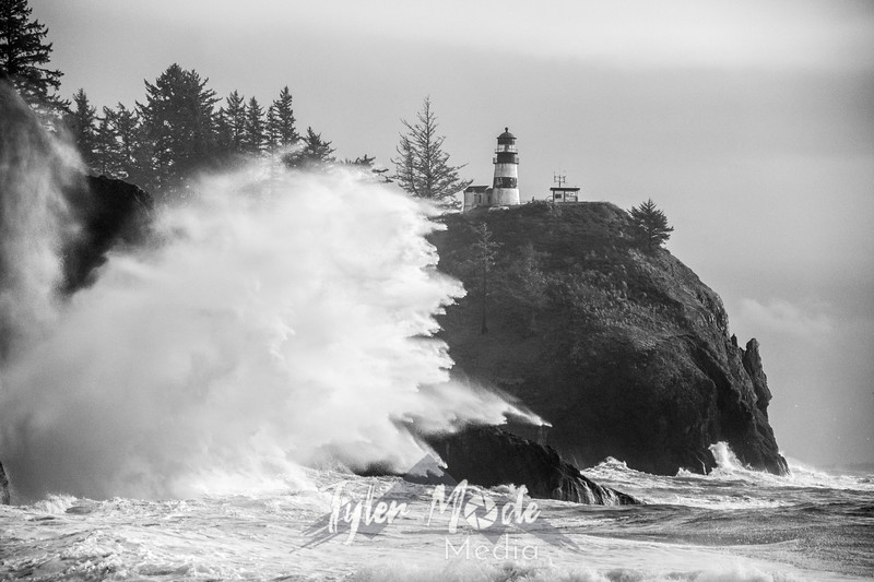 84  Cape Disappointment Waves BW