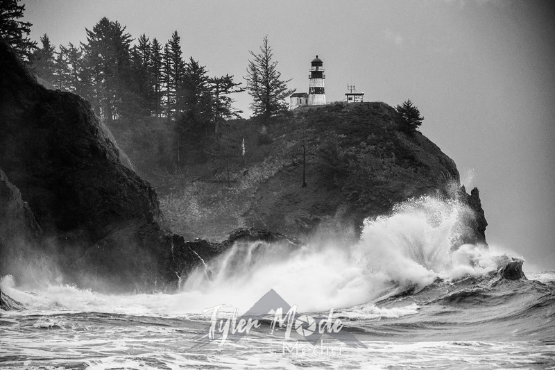 58  Cape Disappointment Waves BW