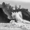 90  Cape Disappointment Waves Angel BW