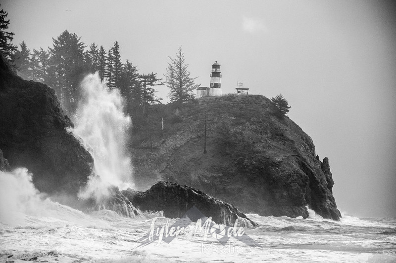 47  Cape Disappointment Waves BW
