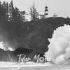 72  Cape Disappointment Waves BW