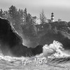 92  Cape Disappointment Waves BW