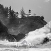 54  Cape Disappointment Waves BW