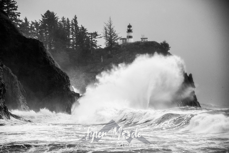 41  Cape Disappointment Waves BW