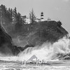 56  Cape Disappointment Waves BW