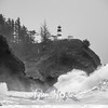 22  Cape Disappointment Waves BW