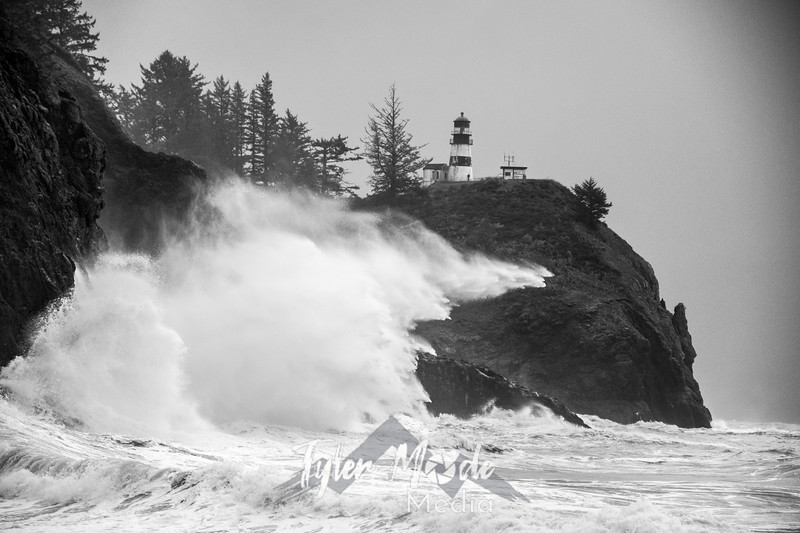 24  Cape Disappointment Waves BW