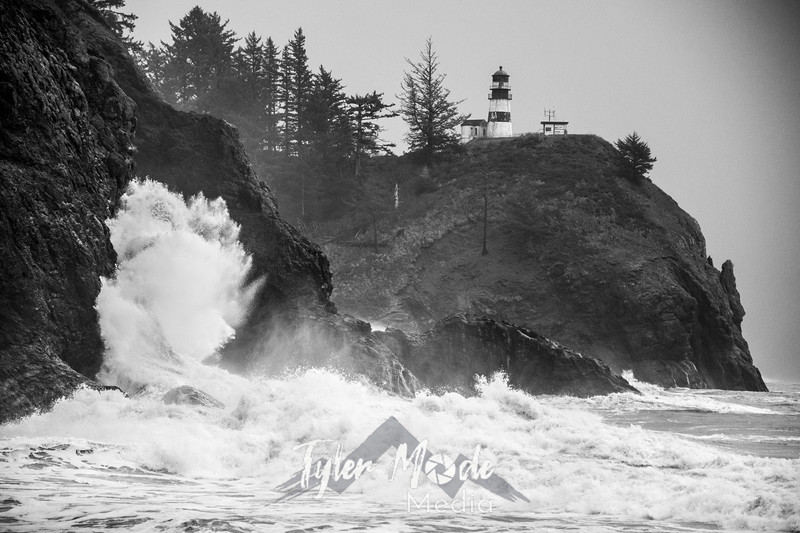 5  Cape Disappointment Waves BW