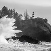82  Cape Disappointment Waves BW