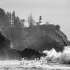 75  Cape Disappointment Waves BW