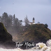 32  Cape Disappointment Waves Bald Eagle