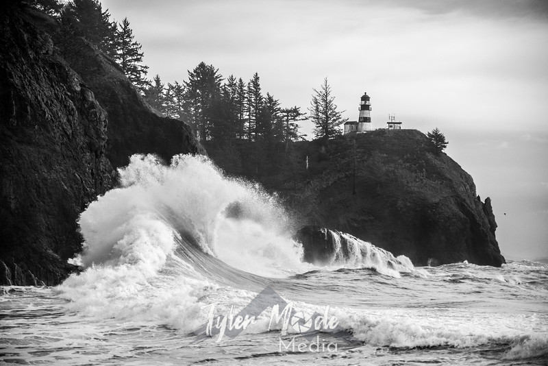 102  Cape Disappointment Waves BW
