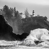 86  Cape Disappointment Waves BW