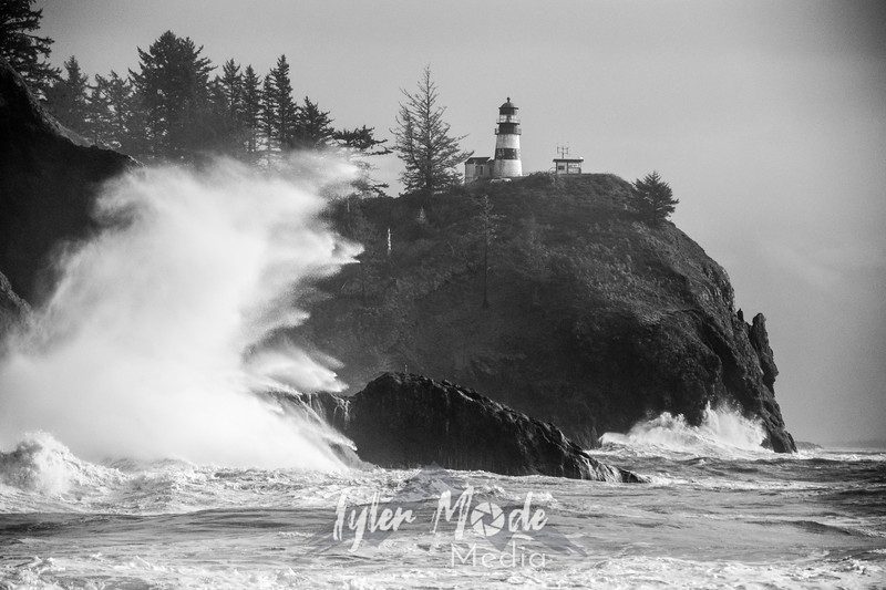 77  Cape Disappointment Waves BW