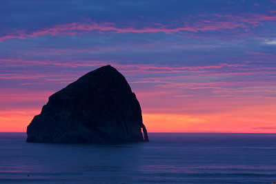 Haystack Rock at Cape Kiwanda, Oregon.