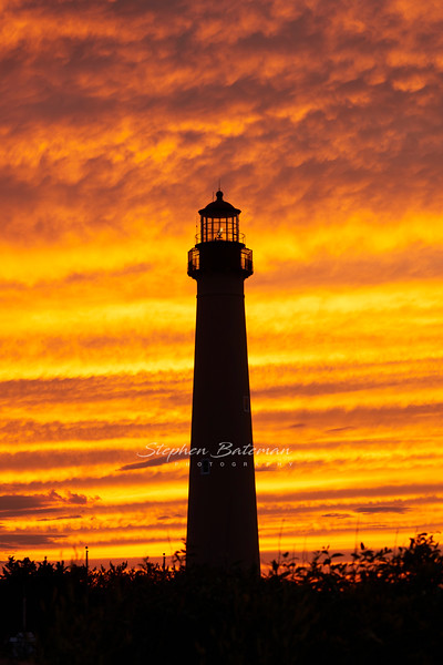 Cape May Lighthouse Silhouette