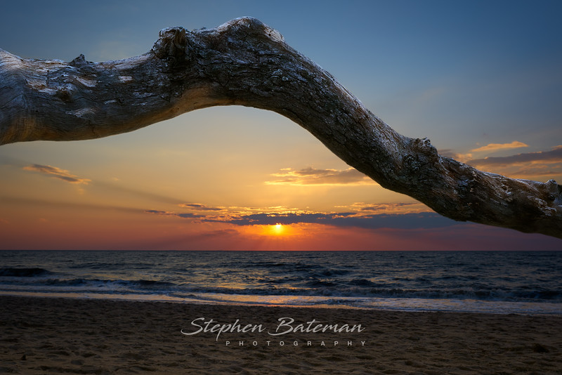 Higbee Beach Framed Sunset